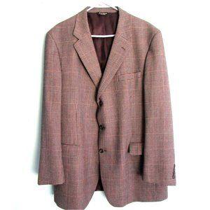 Men's Pin Check Lined Blazer Jos A Bank